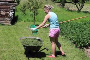 Monika hrabe trávu